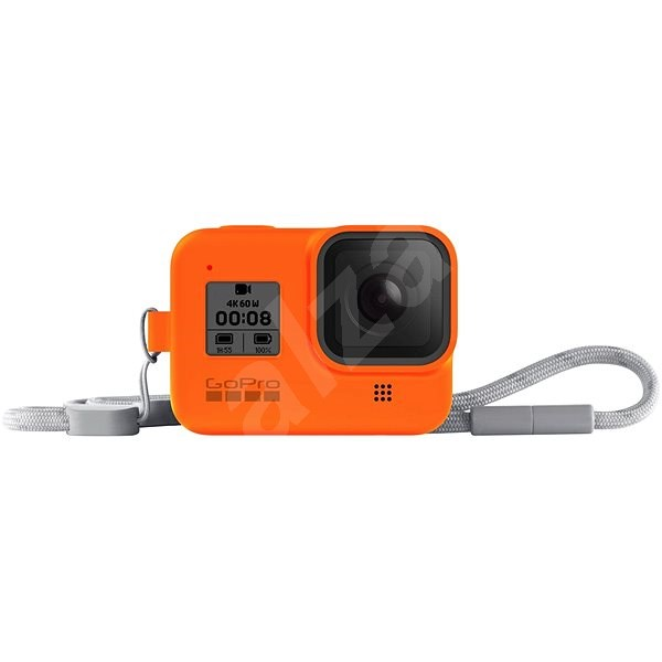 GoPro Sleeve + Lanyard (HERO8 Black), Orange - Protective Case