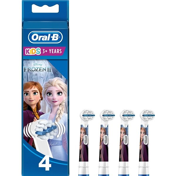 Oral B Stages Power Kids Electric Toothbrush Replacement Heads featuring Disney Frozen 4 pack