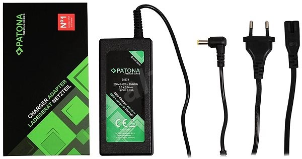 PATONA for laptops 19V/3.15A 60W/ 5.5x3mm connector + pin - Adapter