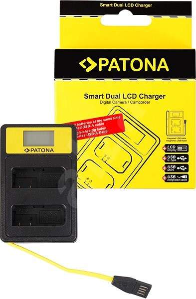 PATONA for Dual Nikon EN-EL14 with LCD, USB - Battery Charger