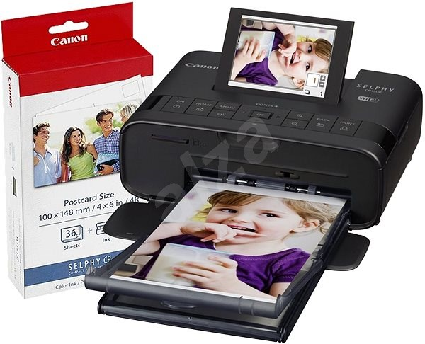 Canon SELPHY CP1300 Black + Papers KP-36