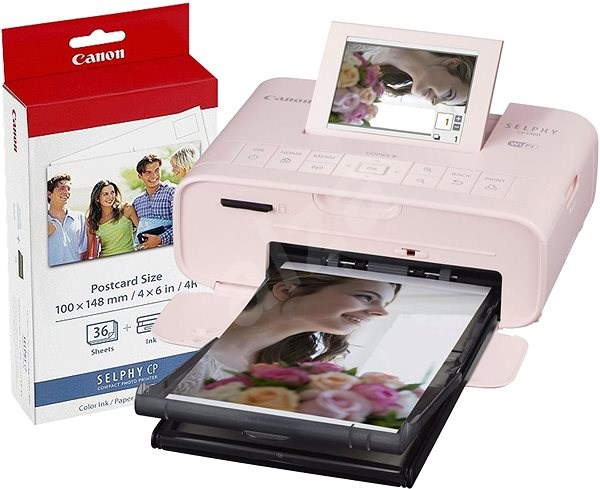 Canon SELPHY CP1300 Pink + Papers KP-36 - Dye-sublimation Printer
