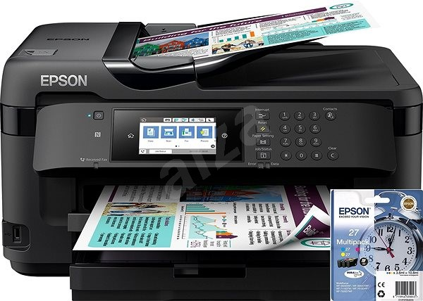 Epson WorkForce WF-7710DWF + Epson T27 Multipack - Inkjet Printer
