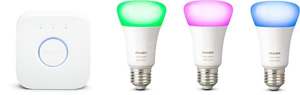 Philips Hue White and Color Ambiance 9W E27 Promo Starter Kit - LED bulb