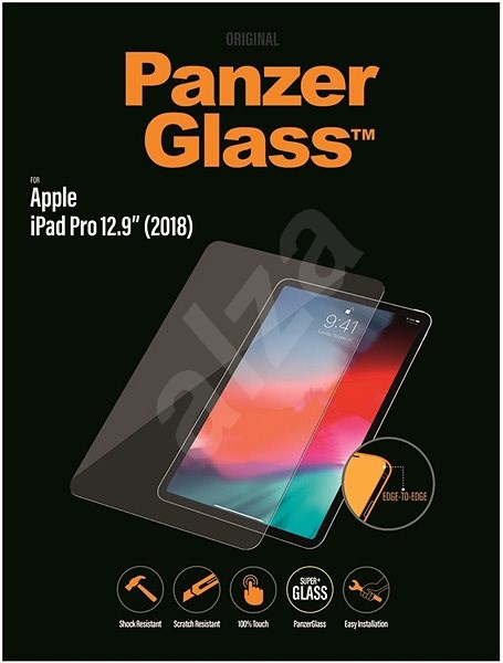 """PanzerGlass Edge-to-Edge for Apple iPad 12.9"""" (2018/2020) Clear - Glass protector"""