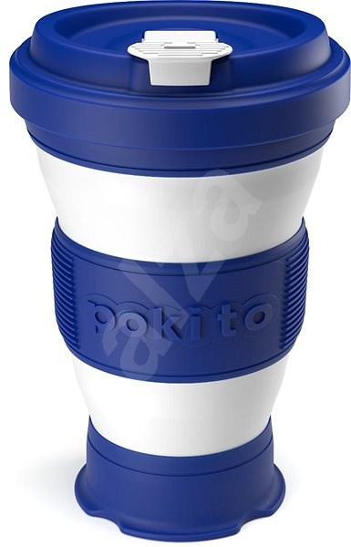 POKITO Collapsible Coffee Cup, 3 in 1 Blueberry