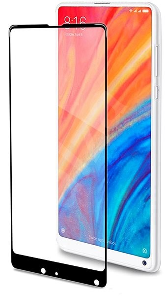 CELLY Full Glass for Xiaomi Mi Mix 2S Black - Glass protector
