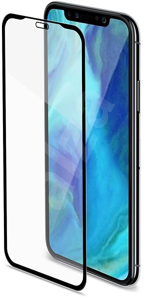 CELLY Full Glass for Apple iPhone XR Black - Glass protector