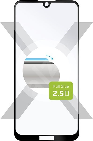 FIXED FullGlue-Cover for Nokia 2.2, full screen adhesive, black - Glass protector