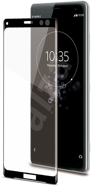CELLY 3D Glass for Sony Xperia XZ3 Black - Glass protector