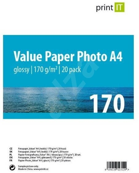 PRINT IT Paper Photo Glossy A4, 170g/m2, 20 sheets - Photo Paper