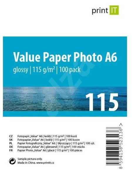 PRINT IT Paper Photo Glossy A6, 115g/m2, 100 sheets - Photo Paper
