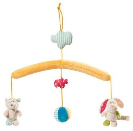 Curtain over the crib with animals  - Cot Toy