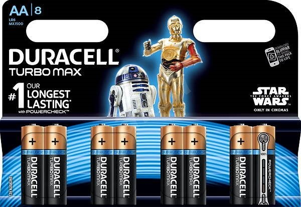 Duracell Turbo Max AA 8pcs (StarWars Edition) - Disposable batteries