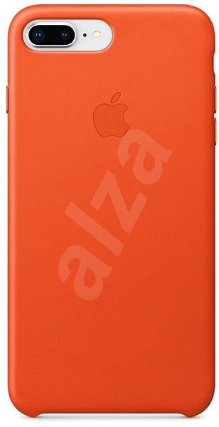 iPhone 8 Plus/7 Plus Leather Case Bright Orange - Mobile Case