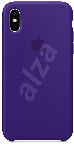 new product 34774 a7a34 iPhone X Silicone Cover Dark Purple - Mobile Phone Case | Alza.co.uk