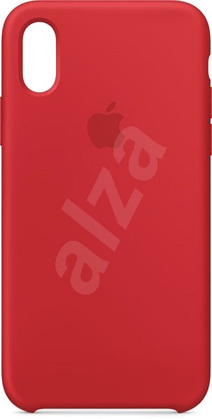 iPhone XS Silicone Cover red - Mobile Case