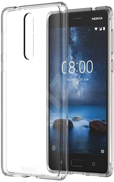 watch e5ee8 5d6cb Nokia Hybrid Crystal Case CC-701 for Nokia 8 - Protective Case | Alza ...