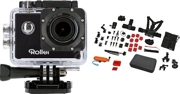 Rollei ActionCam 372 + Complete Set of Accessories 47pcs - Outdoor camera