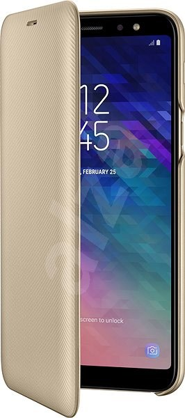 low priced a29e5 b7af4 Samsung Galaxy A6+ Wallet Cover Gold