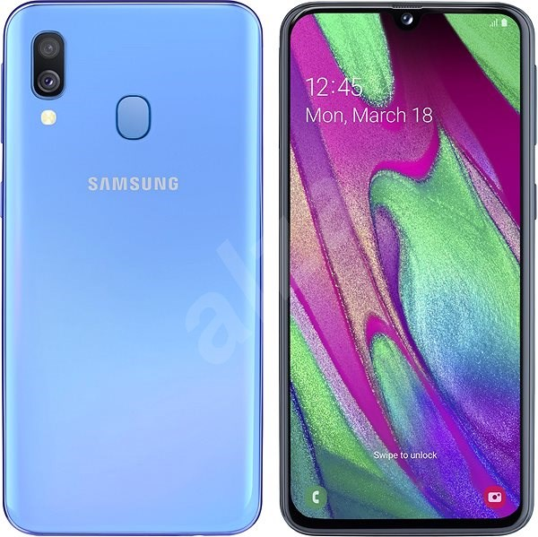 Samsung Galaxy A40 Dual SIM Blue - Mobile Phone