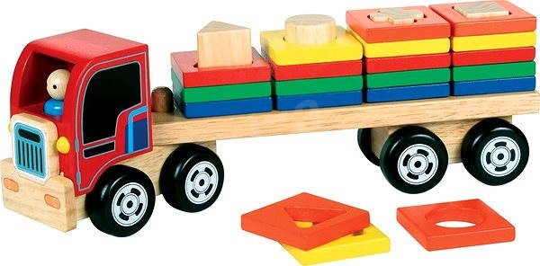 Wooden cargo truck with deployment  - Wooden Model