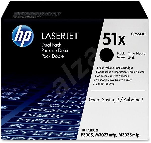 HP No. 51X Black Q7551XD - Toner