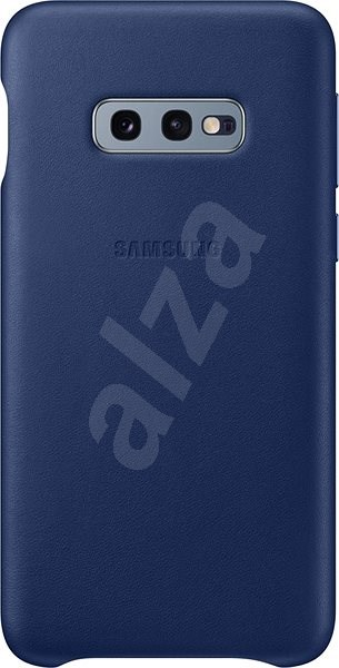 Samsung Galaxy S10e Leather Cover Navy Blue - Mobile Case