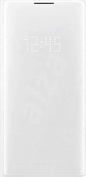 Samsung Flip Case LED View for Galaxy Note 10+ white - Mobile Phone Case