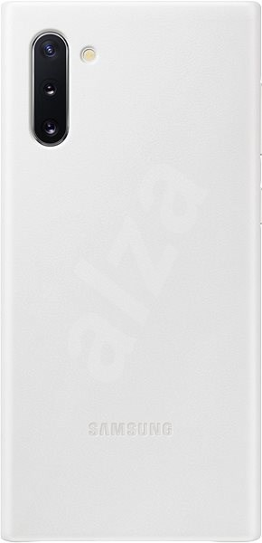 Samsung Leather Back Cover for Galaxy Note10 white - Mobile Case