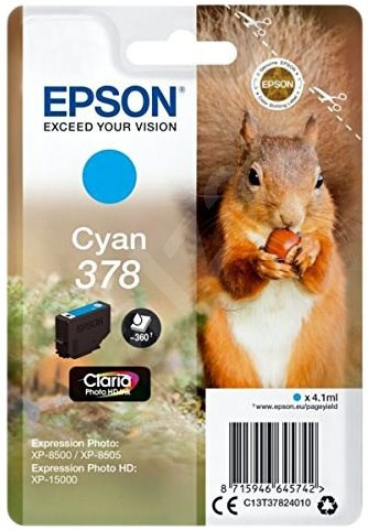 Epson T3782 No.378 Cyan - Cartridge