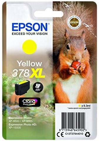 Epson T3794 No.378XL Yellow - Cartridge