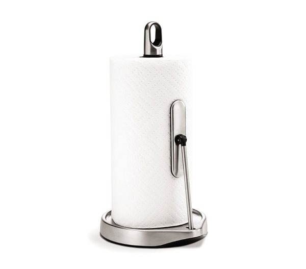 Simplehuman Kitchen cup holder with arm, for rollers up to 28cm, matt steel - Stand