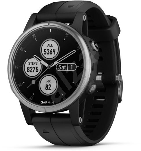 Garmin Fenix 5S Plus Silver Optic Black Band