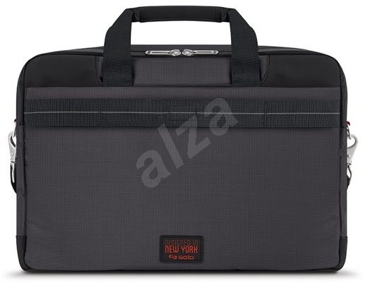 "Solo Mission Briefcase Black/Red 15.6"" - Laptop Bag"