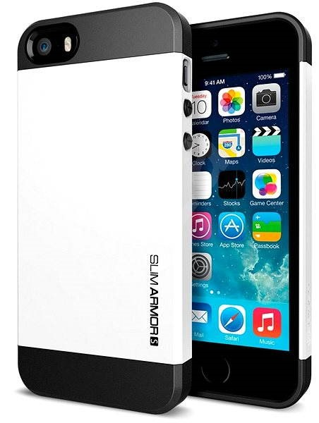 SPIGEN SGP Case Slim Smooth White Armor S  - Protective Case