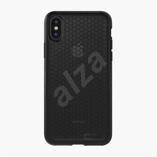 Nomad Hexagon Case Black Smoked Grey iPhone X - Silicone Case