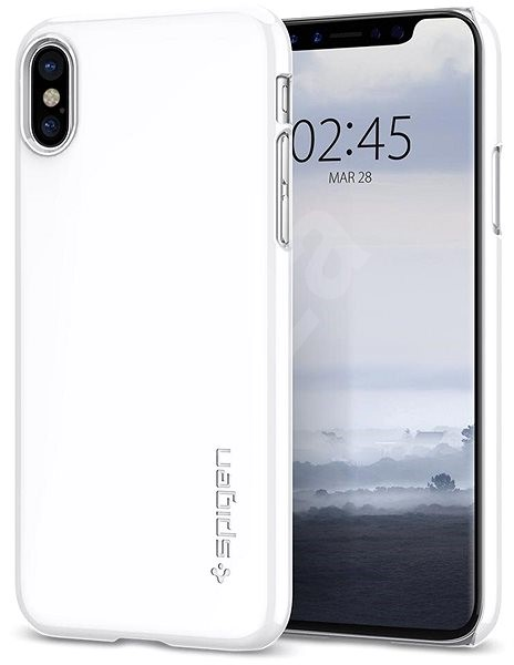 the best attitude 022af 20147 Spigen Thin Fit White iPhone X - Protective Case | Alza.co.uk