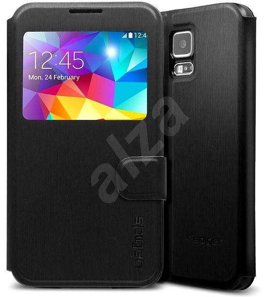 sports shoes 6e7bd 4a3d9 SPIGEN Galaxy S5 Case Flip Black Metallic - Protective Case | Alza.co ...