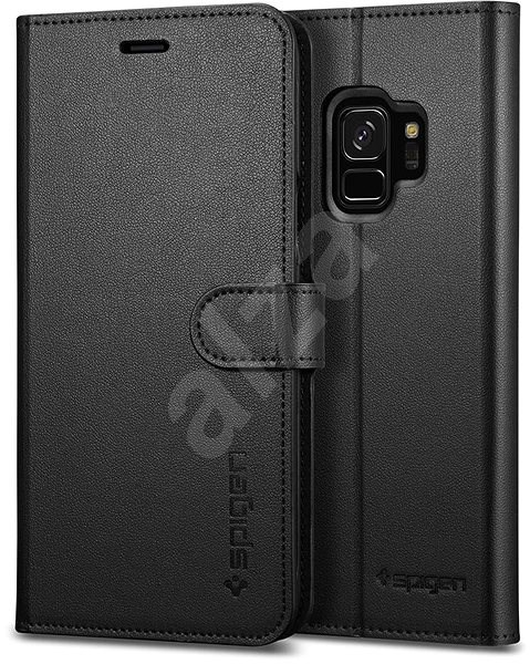 Spigen Wallet S Black Samsung Galaxy S9 - Mobile Phone Case