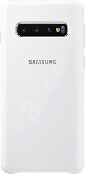 Samsung Galaxy S10 Silicone Cover White - Mobile Case
