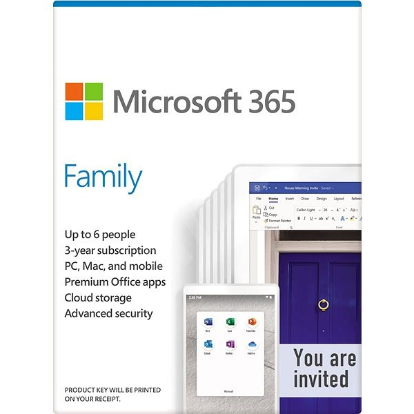 Microsoft 365 Family EN (Electronic License) - Office Software