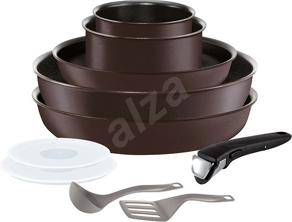 TEFAL Set of dishes 10 pieces INGENIO CHEF - Pot Set