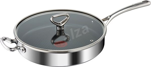 Tefal Saute Pan with Lid 30cm RESERVE Collection Triply E4759244 - Pan