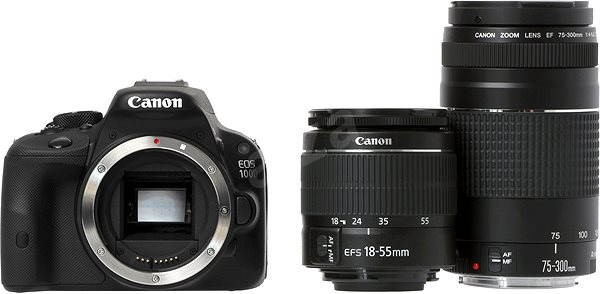 Canon EOS 100D body + EF-S 18-55 mm + 75-300 mm DC III DC III + 35 mm - DSLR Camera