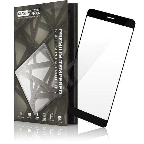 Tempered Glass Protector Frame for Huawei Mate 10 Lite Black - Glass protector