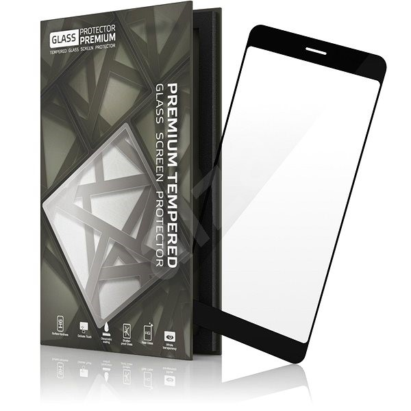 Tempered Glass Protector Frame for Huawei P9 Lite (2017) Black - Glass protector