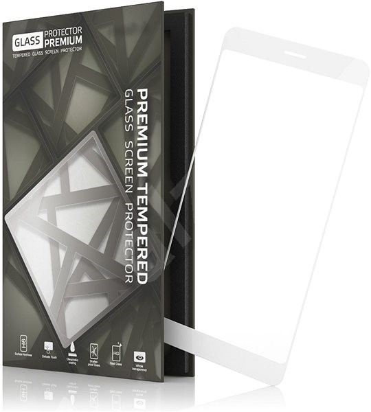 Tempered Glass Protector Frame pro Huawei P9 Lite (2017) White - Glass protector