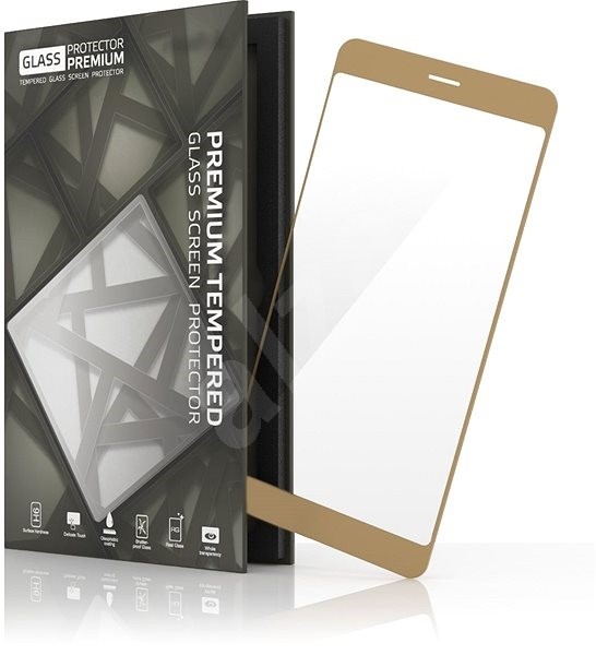 Tempered Glass Protector for Samsung Galaxy A3 (2017) Gold - Glass protector