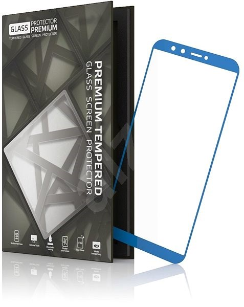 online store 2fb44 c40b1 Tempered Glass Protector 0.3mm for Honor 9 Lite Blue Frame
